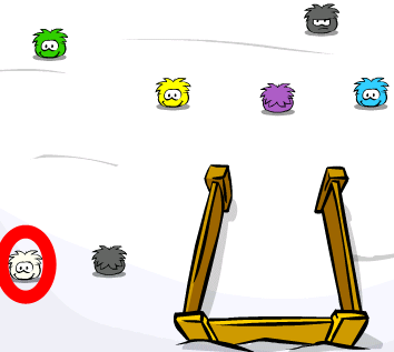 white puffle in game